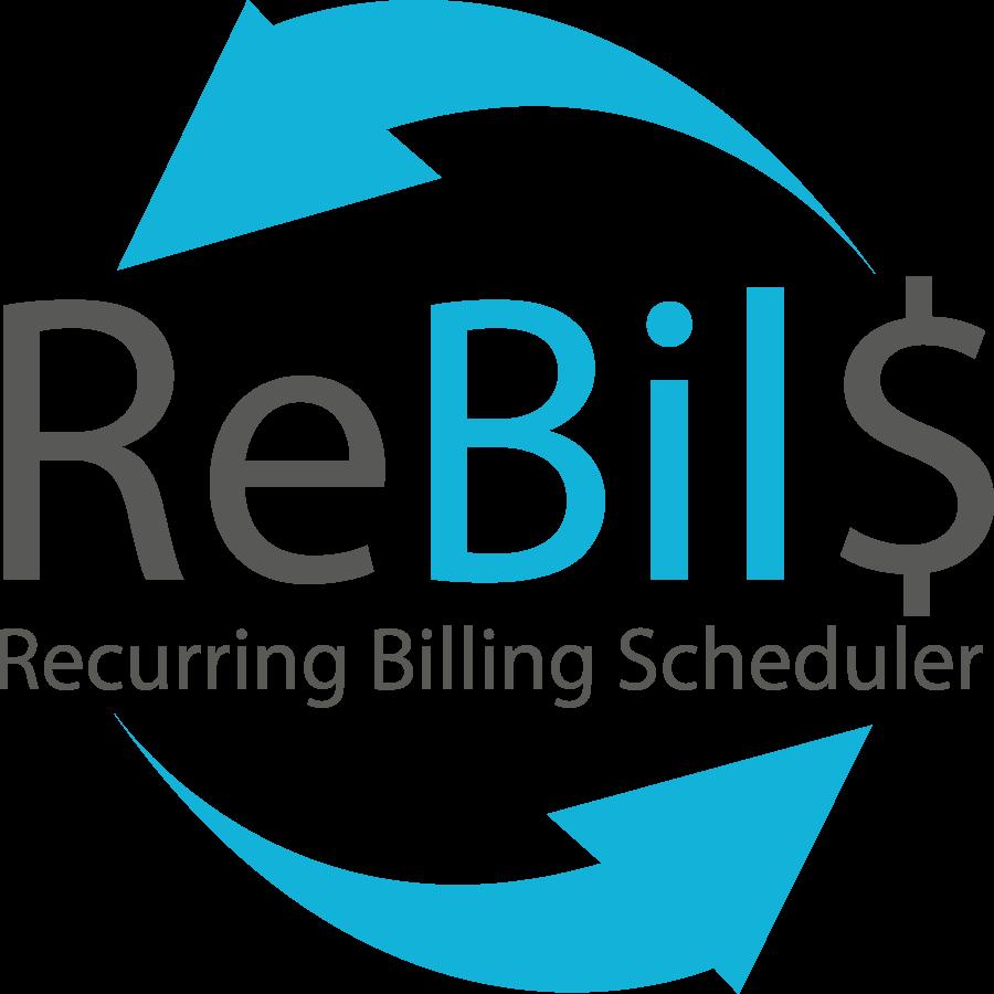 Recurring Billing Scheduler (ReBilS) logo in black and blue color
