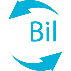 Recurring Billing Scheduler (ReBilS) logo in white and blue color
