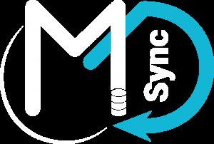 Master Data Synchronization logo (White and blue)