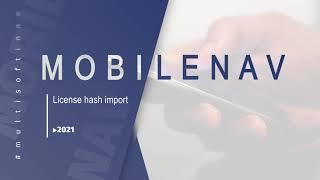 MobileNAV Licence hash